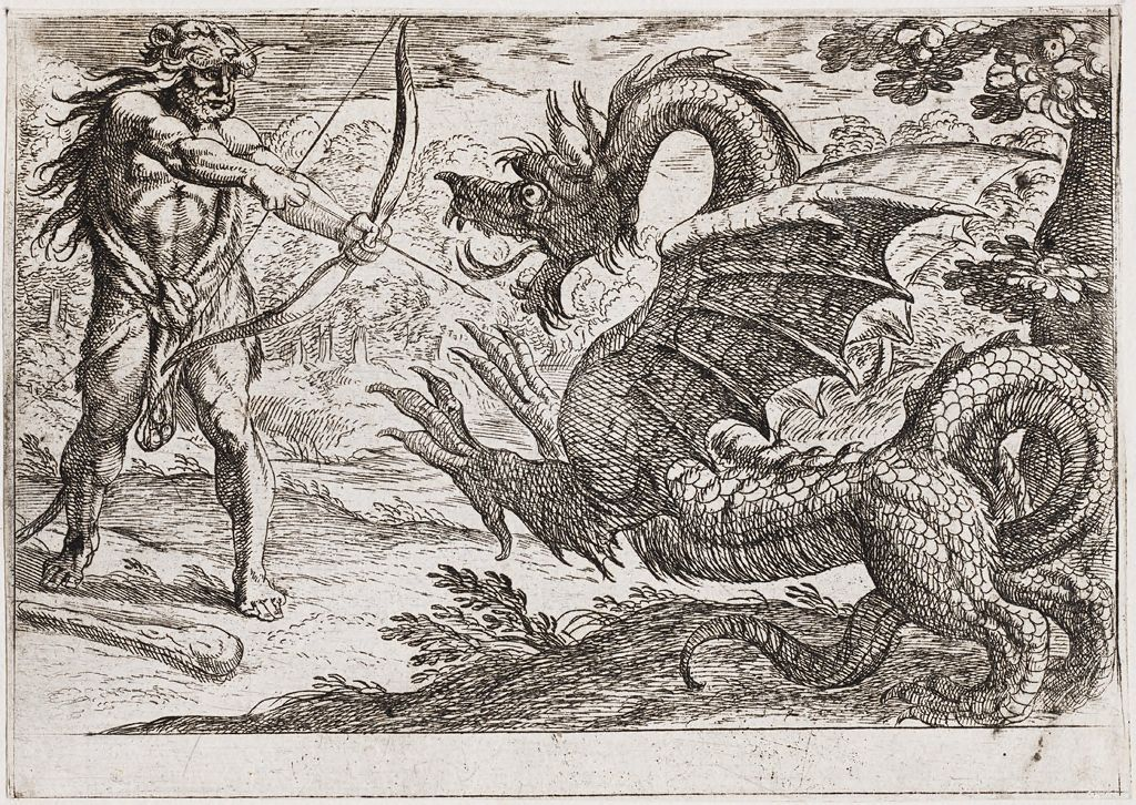 Hercules And The Serpent Ladon
