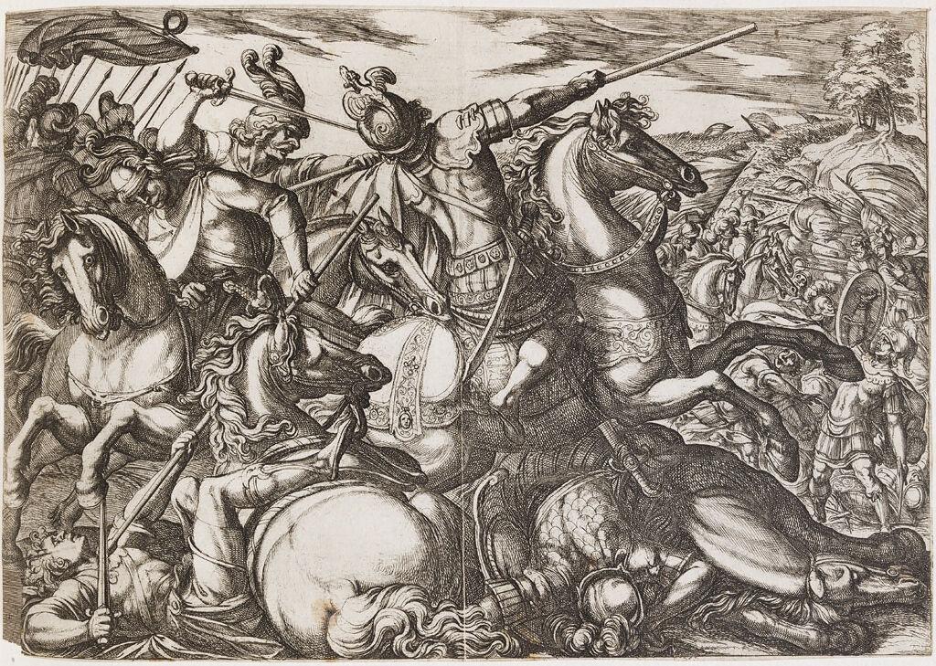 Cavalry Engagement At Close Quarters