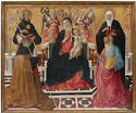 Madonna And Child With Saints Nicholas Of Tolentino, Monica, Augustine, And John The Evangelist
