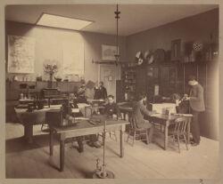 Psychological Laboratory in Dane Hall, photograph Digital Object