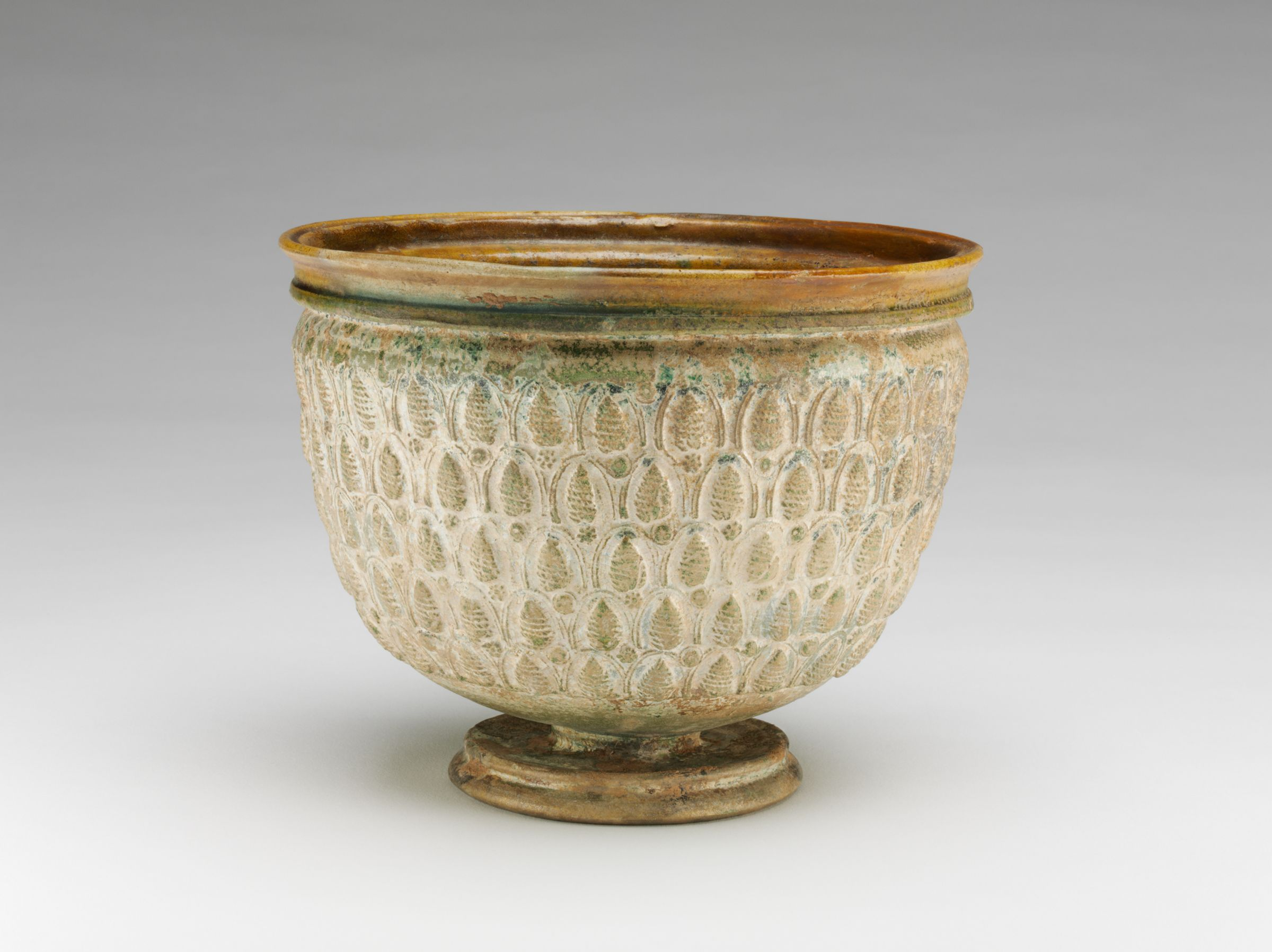 Chalice With Pinecone Pattern