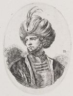 A Young Man with Chin Whiskers and a Plumed Turban