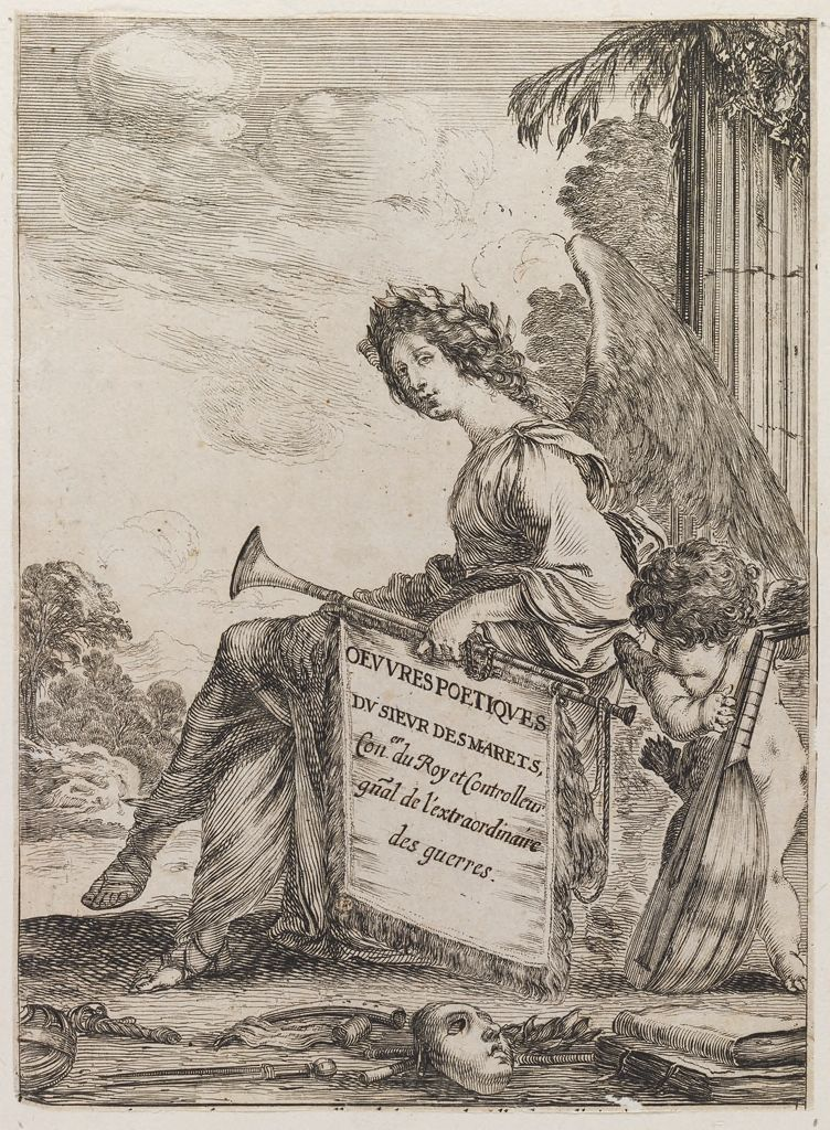 Frontispiece (Fame, With Cupid Playing A Lute)