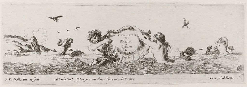 Titlepage: A Triton And A Nereid Holding An Inscribed Shell