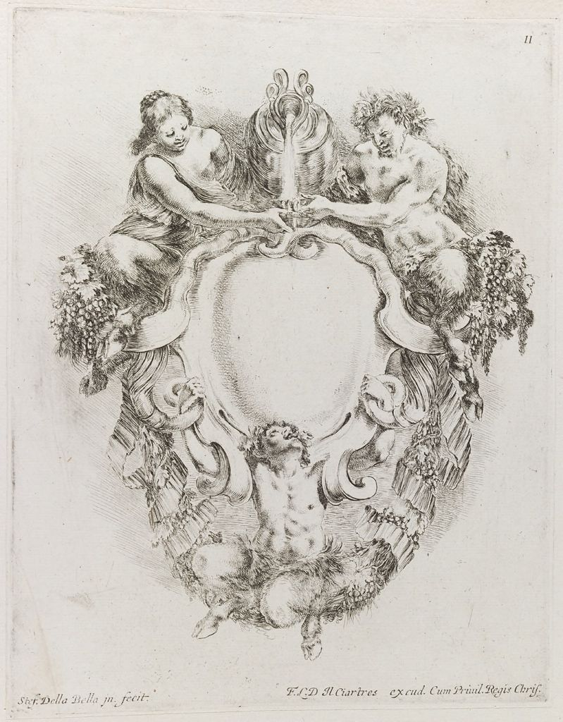 Two Satyrs And A Satyress, Pouring Wine