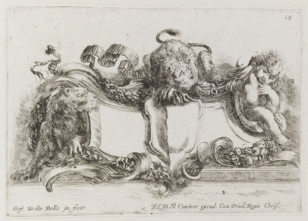 Two Putti Binding A Goat With Garlands