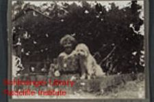 Ida S. Scudder with her dogs.