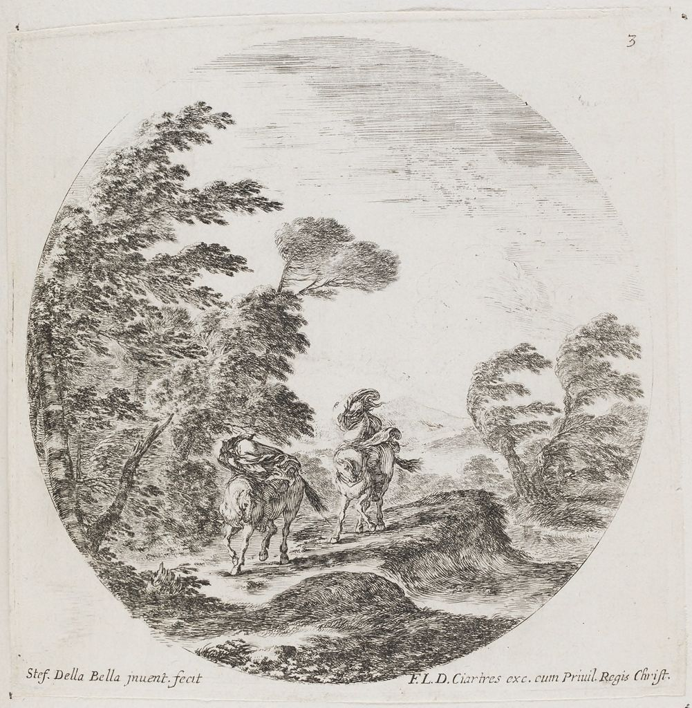 Landscape With Two Travelers On Horseback In A Tempest