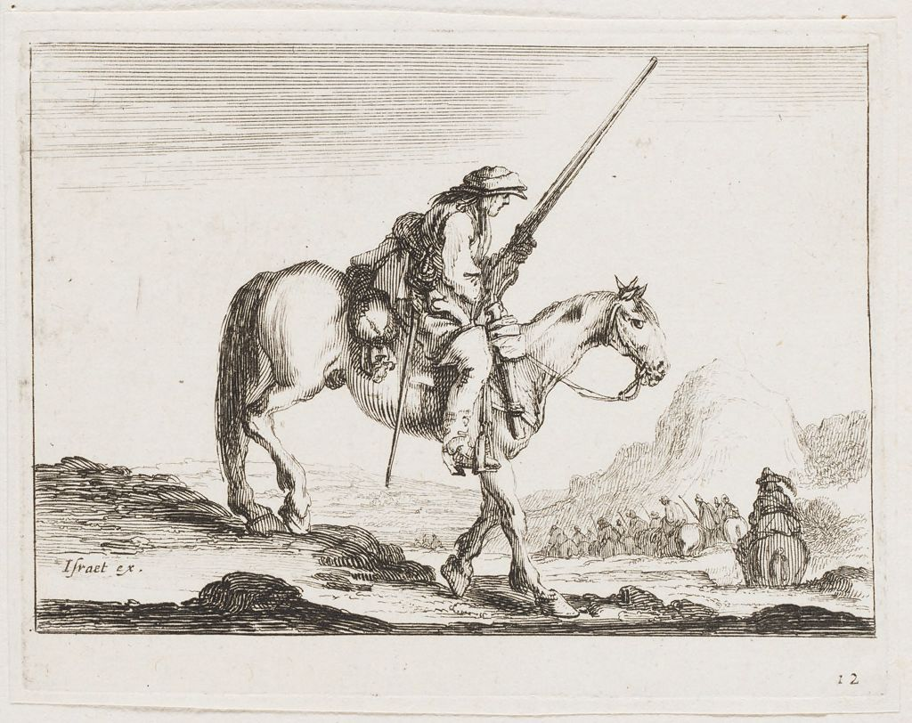 Man On Horseback With Weapon