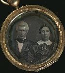 Woman and man, set in locket