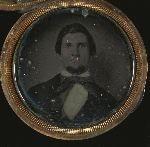 Man, portrait set in locket