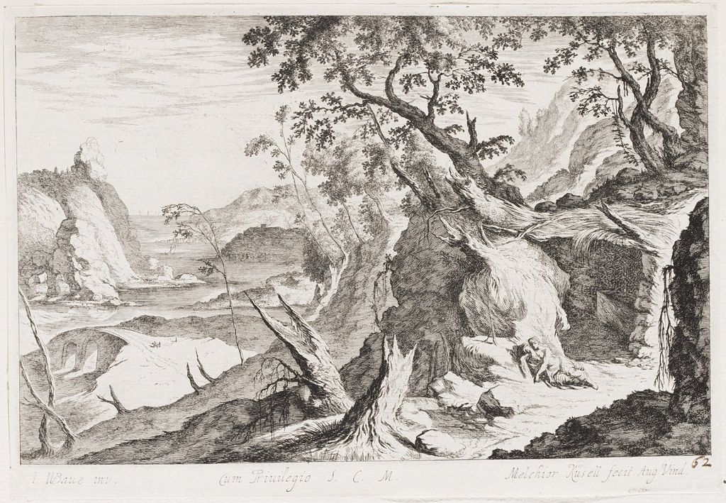 Landscape With The Penitent Mary Magdalene By A Grotto