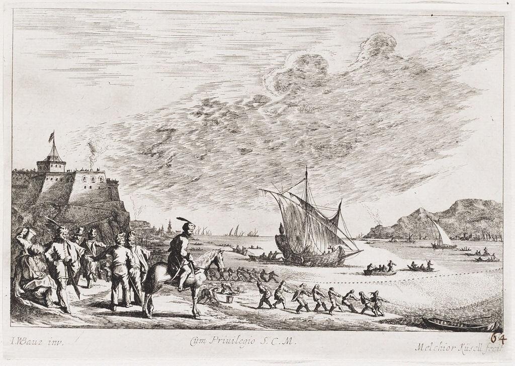 Fishery At Gaeta Near The Castel Santissima Trinità