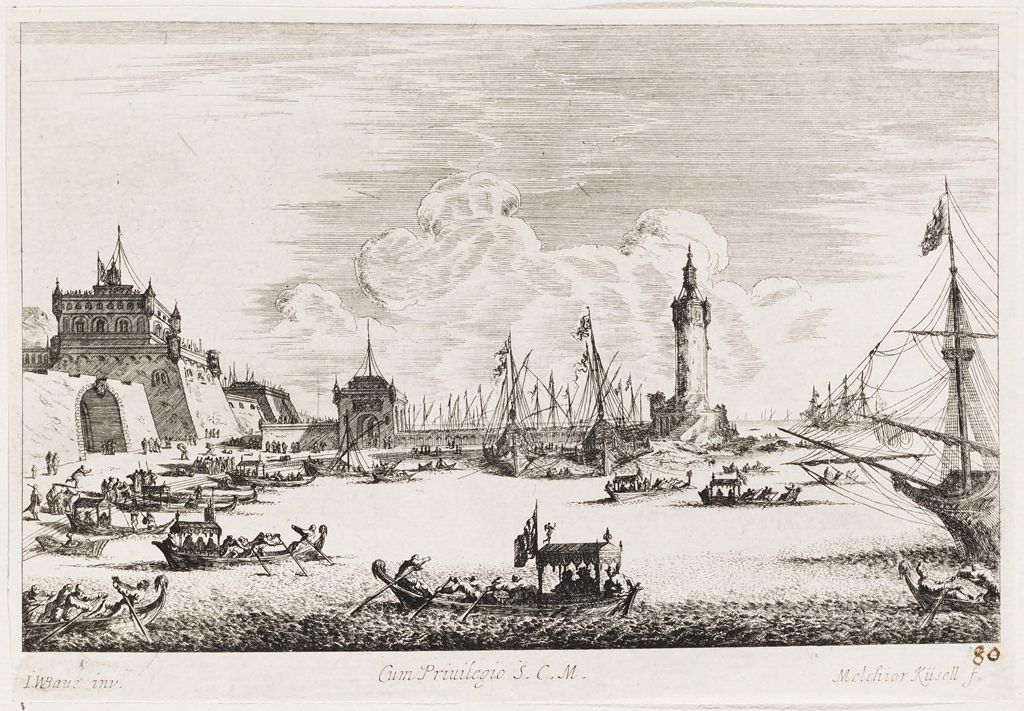 Port Scene In Naples With The Castel Nuovo