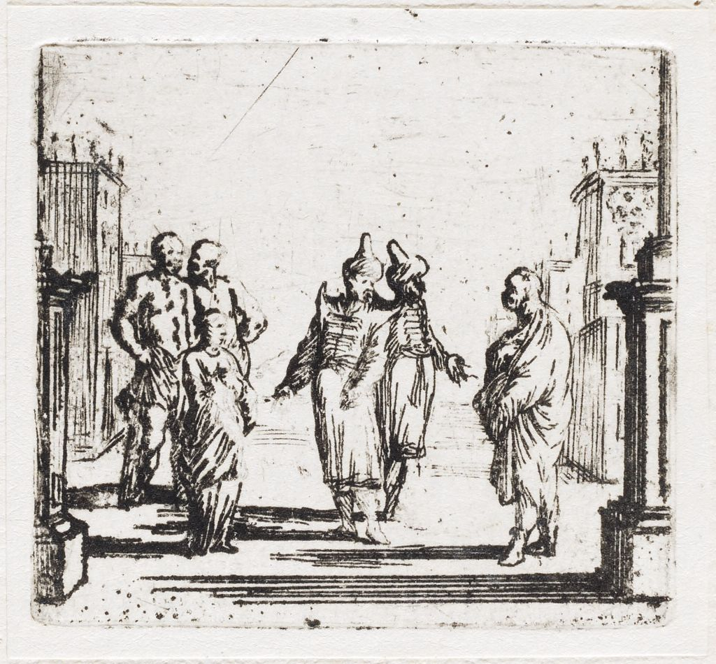 Scene 17: Two Turks Encounter The Young Woman And Three Men