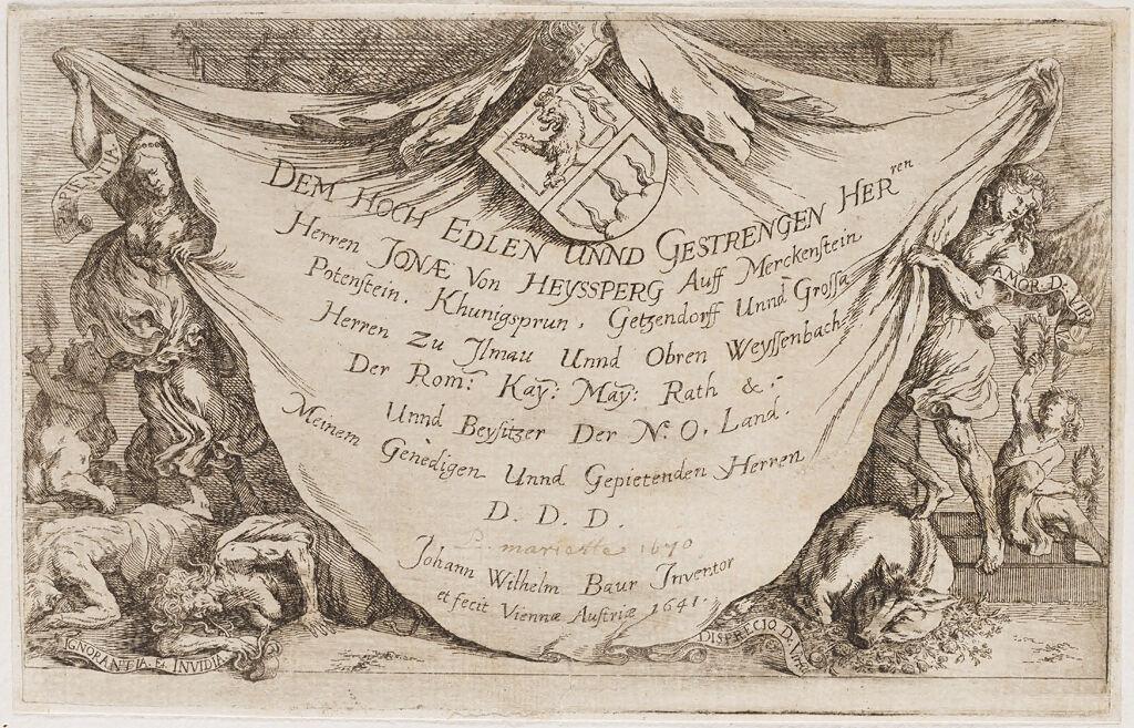 Titlepage With Dedication To Jonah  Von Heyssperg