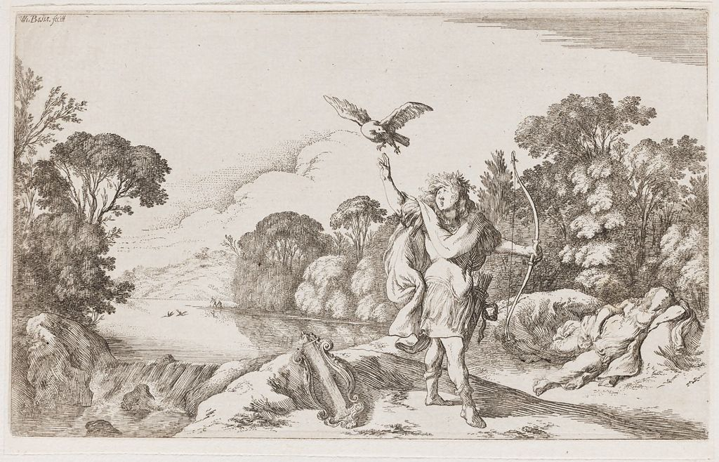 Apollo Kills Coronis, Suspecting That She Was Unfaithful