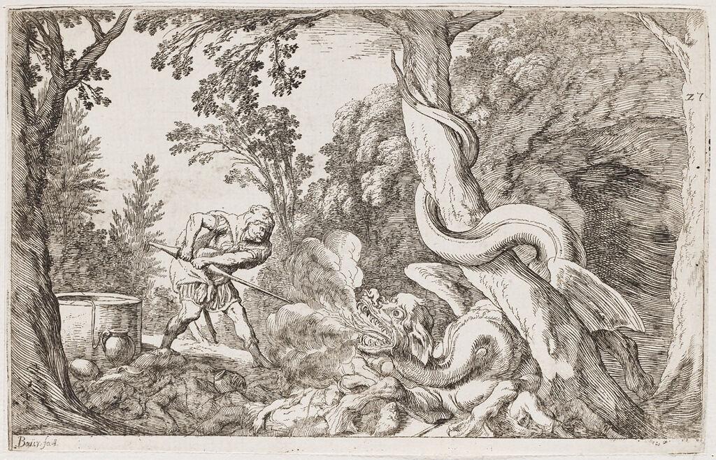 Cadmus Slays The Dragon Who Ate His Companions