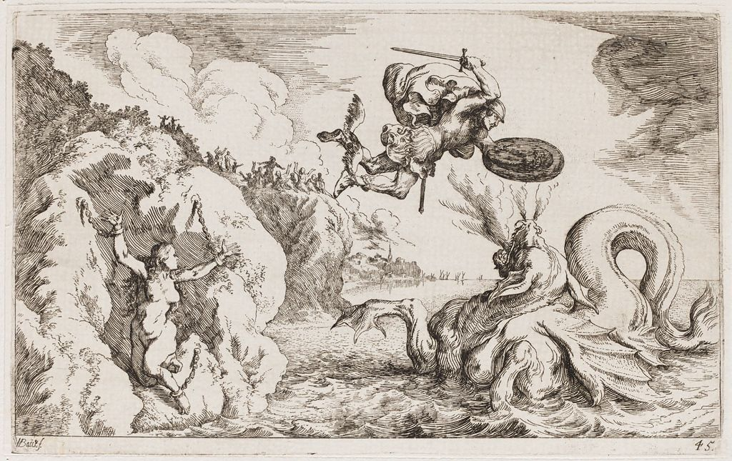 Perseus Delivers Andromeda From The Sea Monster