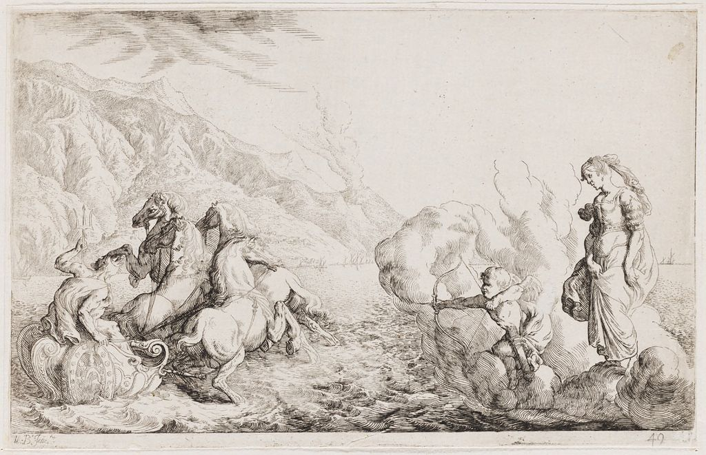 Cupid Shoots An Arrow At Pluto