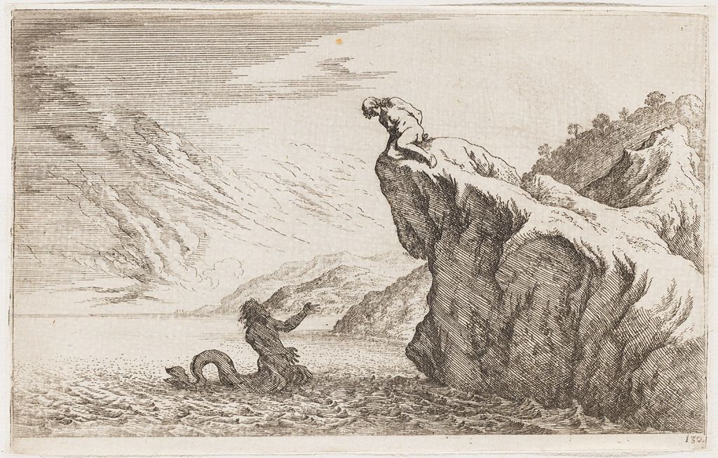 From The Harvard Art Museums Collections Glaucus Falls In