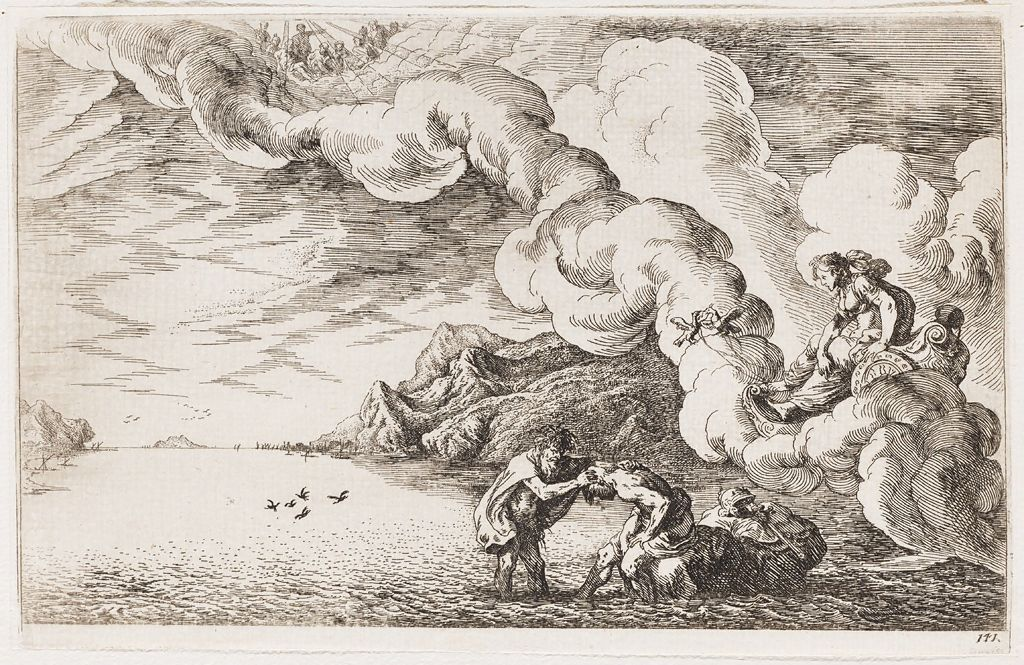 Venus Orders Numicius To Cleanse The Body  Of Aeneas To Deify Him