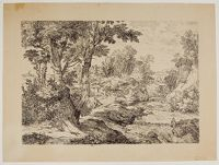 River Landscape With Two Resting Travelers