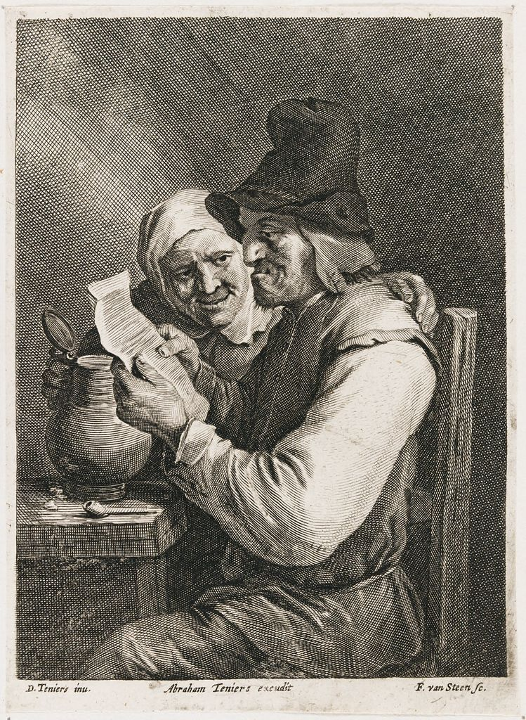 The Drinker And His Wife Reading A Letter