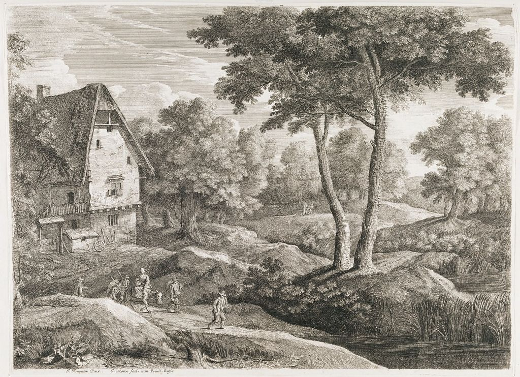 Landscape With Farmhouse And Travelers