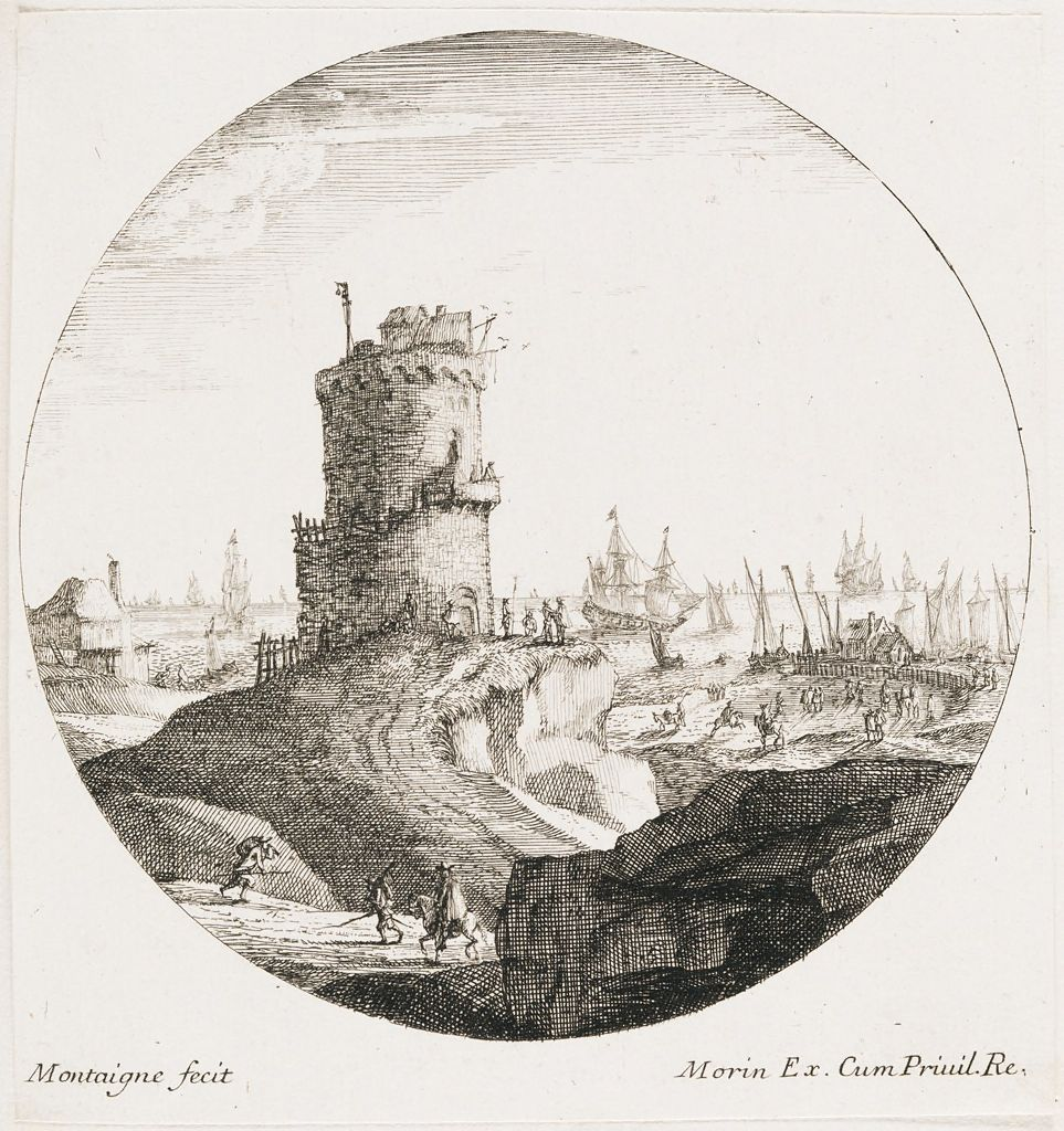 Seaport With A Large Round Tower