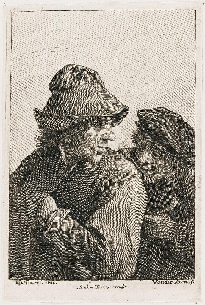 Two Men, One Smoking