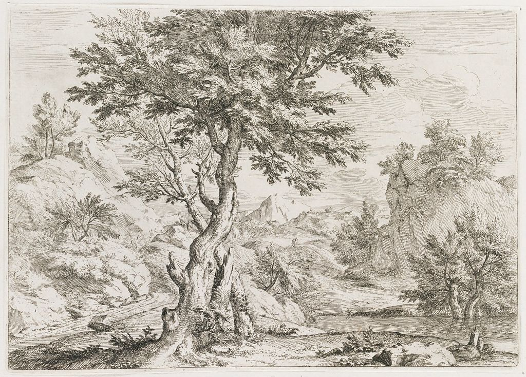 Landscape With Two Trees Crossed