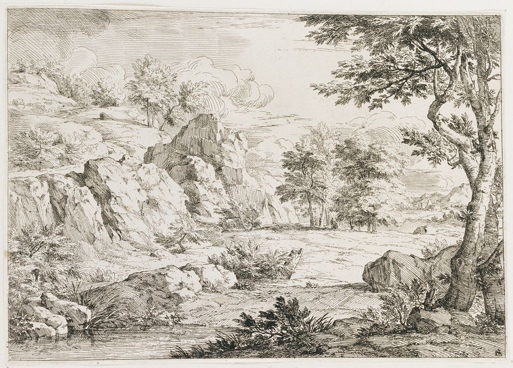 Rocky Landscape With A Spring