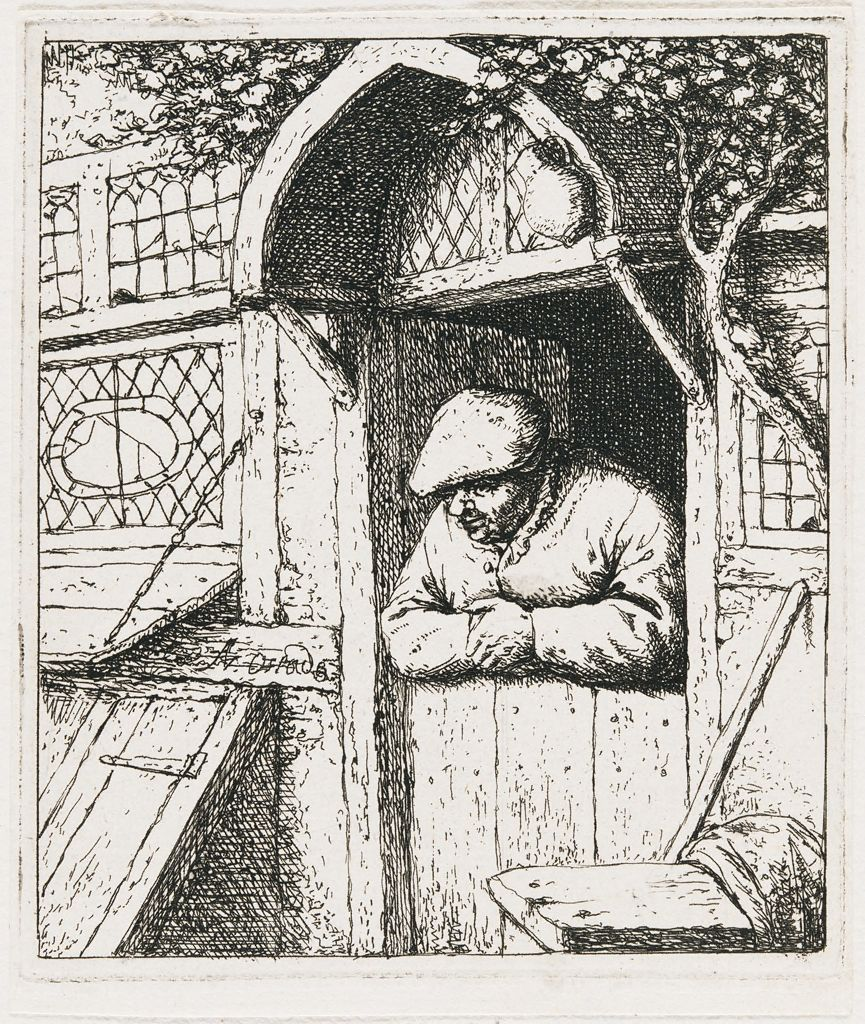 Peasant Leaning On His Doorway