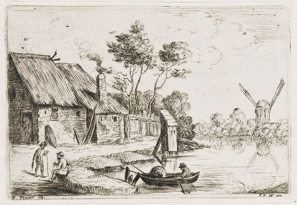 Landscape With A Farm On A River
