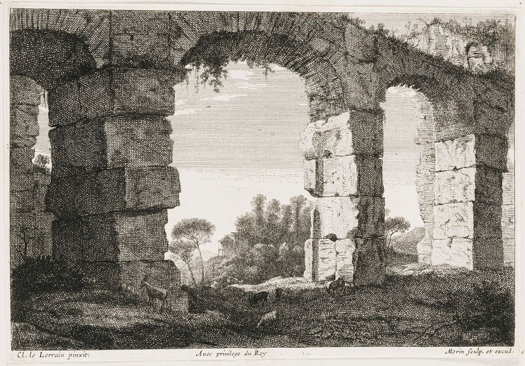 Ruins Of An Aquaduct