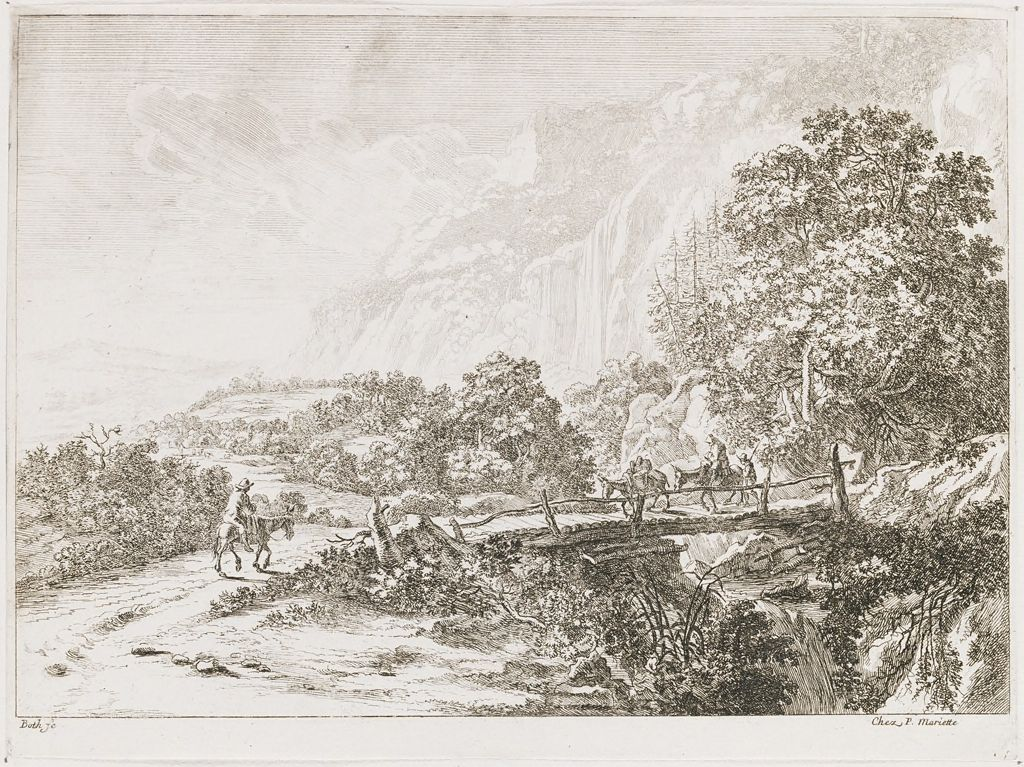 Wooden Bridge Near Sulmona, Near Tivoli
