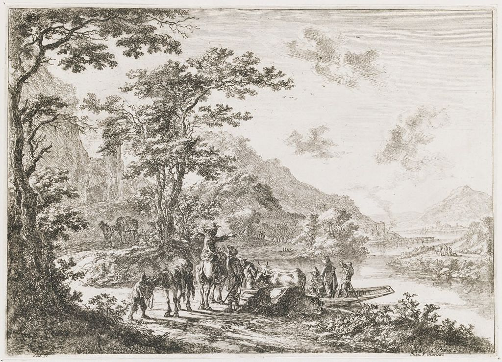 View Of The Tiber In The Campagna