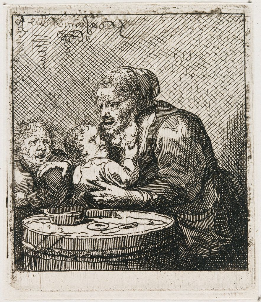 Old Woman And Two Children