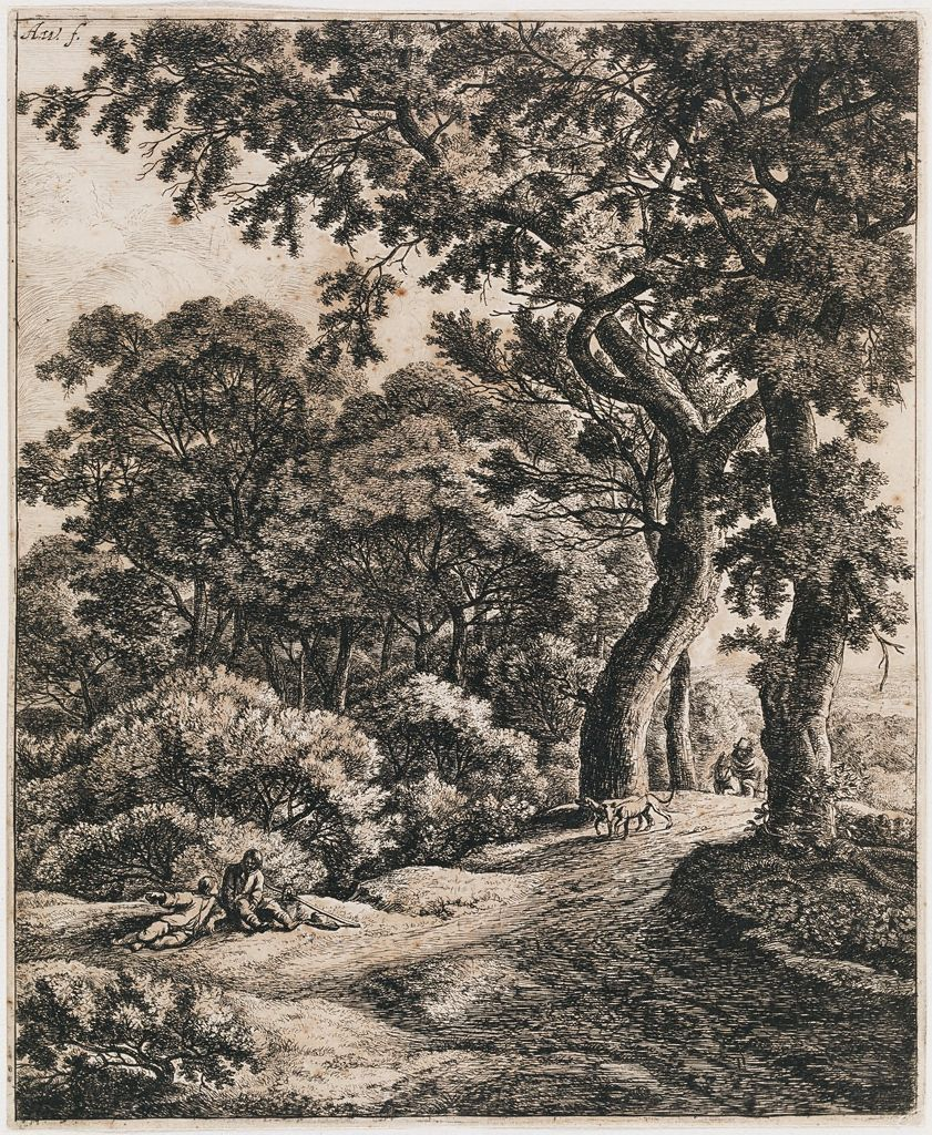 Landscape With Two Travellers Resting