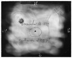 Earthquake, December 13, 1897, Arequipa seismograph