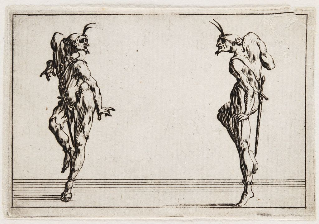 Two Pantaloni Looking At Each Other