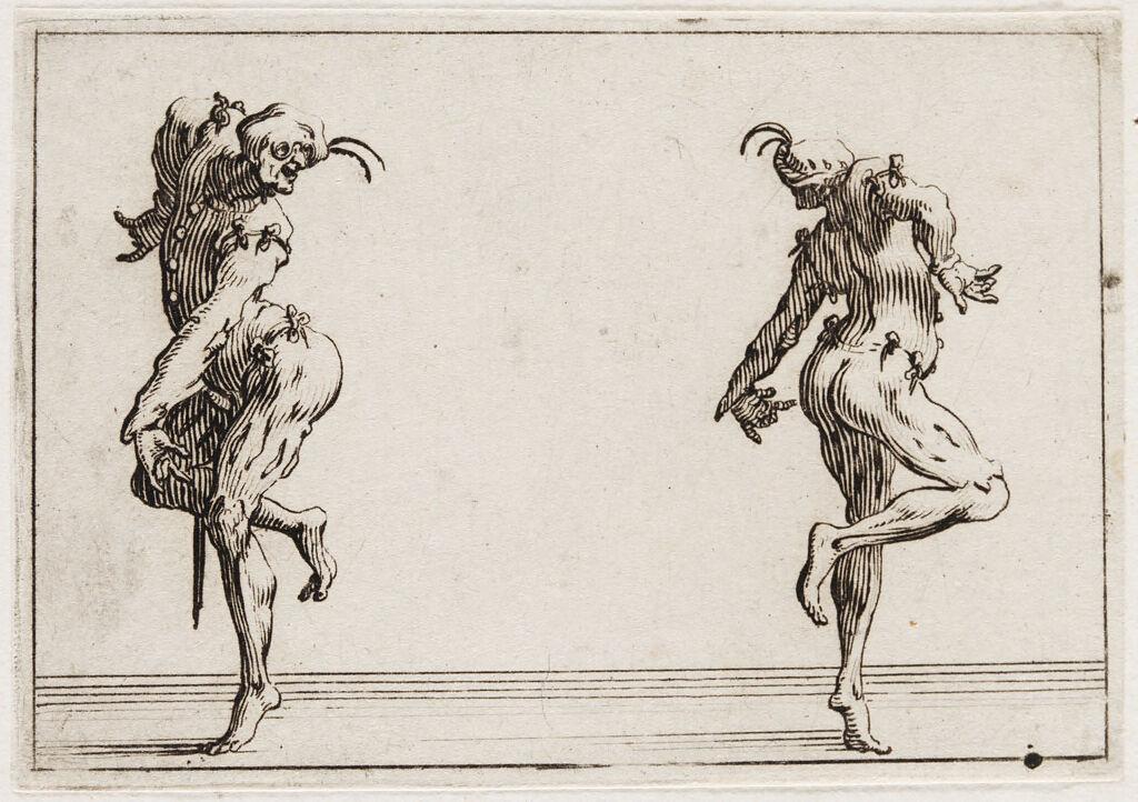 Two Pantaloni Turning Their Backs