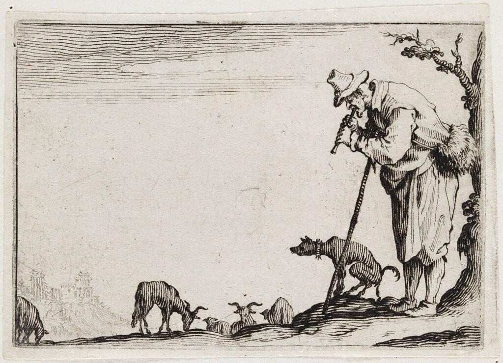 Shepherd Playing His Flute