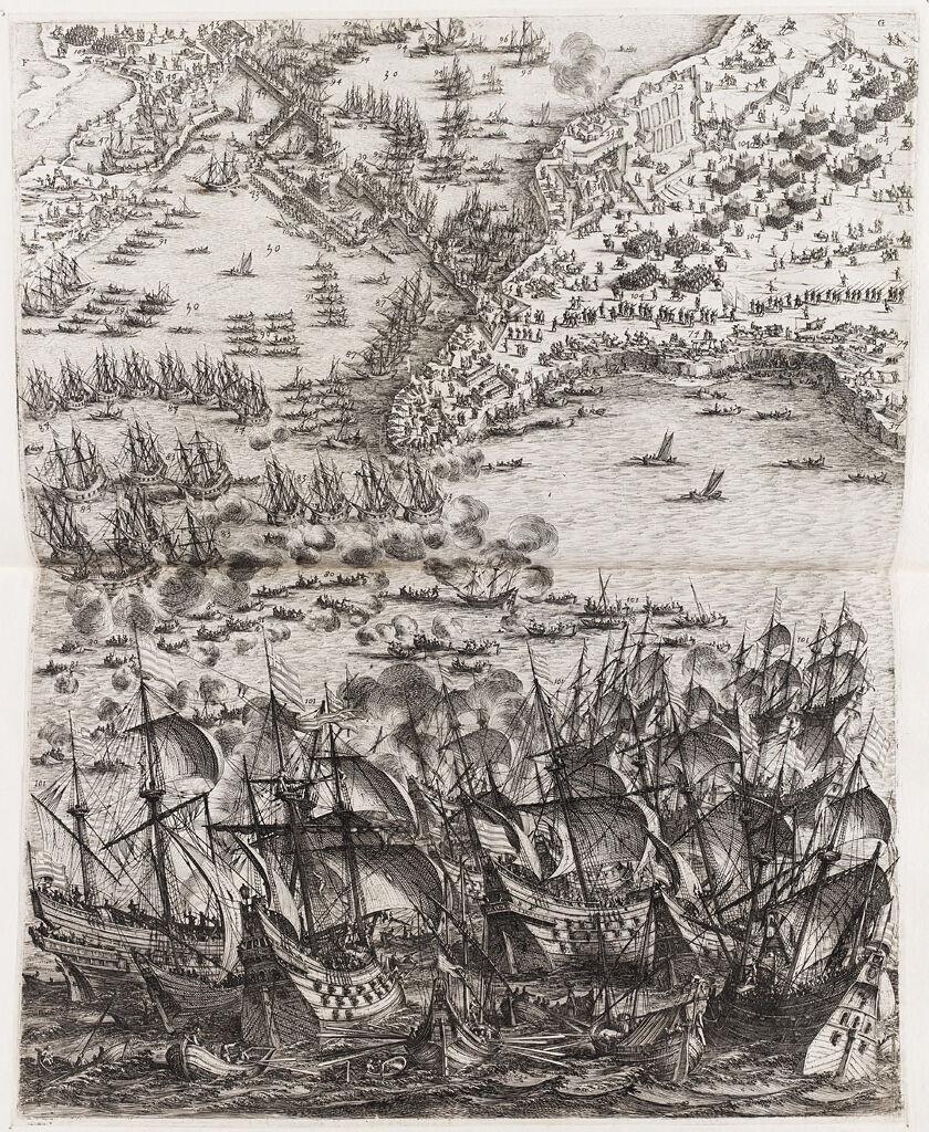 Siege Of La Rochelle (Lower Center)