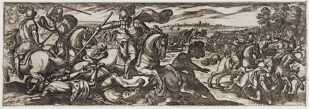 Cavalrymen In Combat