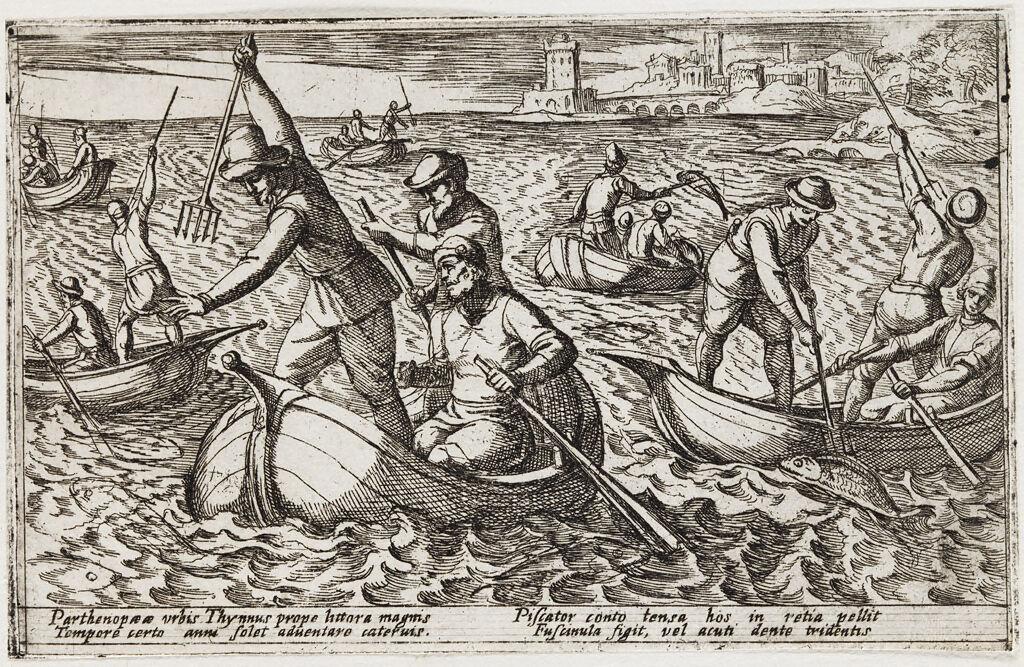 Fishermen Spearing Fish