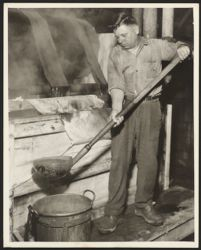 Man with ladle