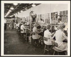 Assembly line -- Firestone spark plug factory