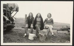 [Three Oregon farmerettes]